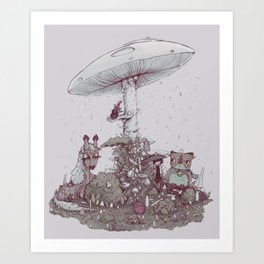 Rain of Spores Art Print