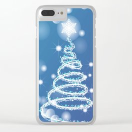 Christmas background with bokeh and snowflake Clear iPhone Case
