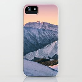 Winter Mountain View iPhone Case