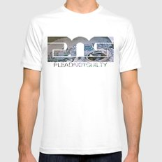 Lost Home White Mens Fitted Tee SMALL