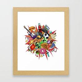 teenage explosion  Framed Art Print