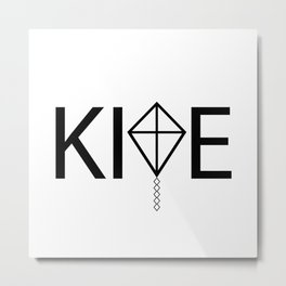 Fly high like a kite / One word creative typography design Metal Print