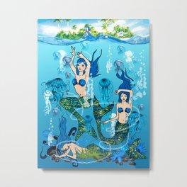 Mermaid Island Metal Print