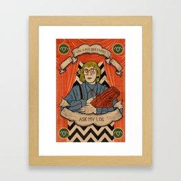 Ask my log Framed Art Print