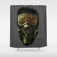 asexual Shower Curtains featuring Spores by Thiago García