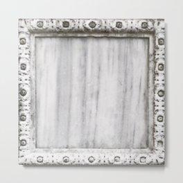 Decorative Venetian Marble Square Metal Print