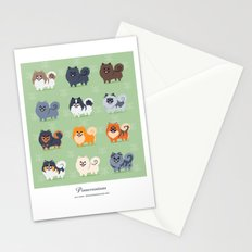Pomeranians Stationery Cards