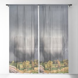 Tornado Day - Storm Touches Down in Northwest Oklahoma Sheer Curtain