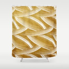 A Chérissent Holiday in Dazzling Gold Shower Curtain