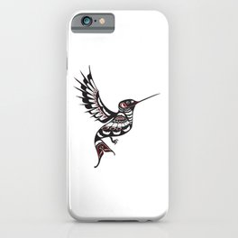 Pacific Northwest Hummingbird coastal formline art colibri iPhone Case
