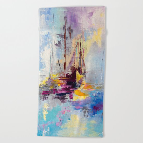Illusive boats Beach Towel