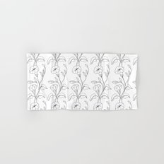 Floral Drawing in black and white Hand & Bath Towel