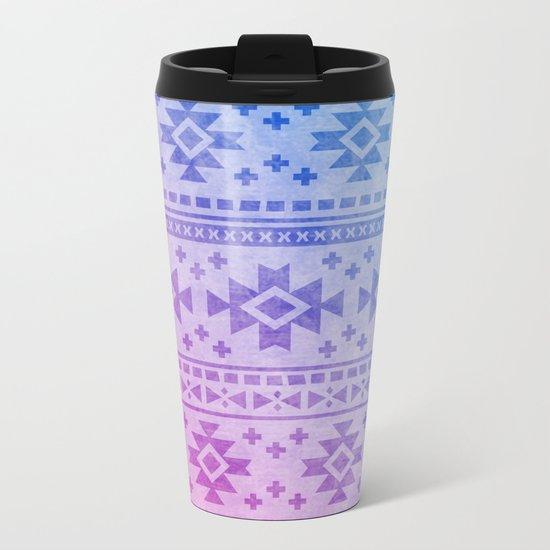 Aztec Pattern 04 Metal Travel Mug