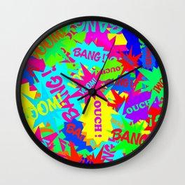 Neon Comics Wall Clock