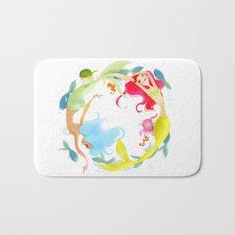 Mermaid Circle Bath Mat