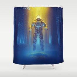 Forest Flux Shower Curtain