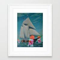 thegnarledbranch Framed Art Prints featuring Beaker Bay by TheGnarledBranch