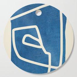 abstract minimal 57 Cutting Board