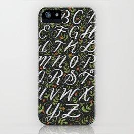 Floral Alphabet iPhone Case