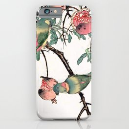 Pomegranate and Lovebirds iPhone Case