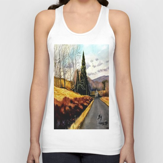 The Country Road Unisex Tank Top