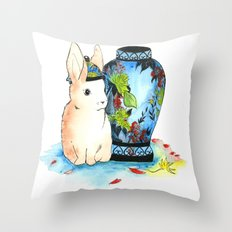 Lapin Chinoiserie Throw Pillow
