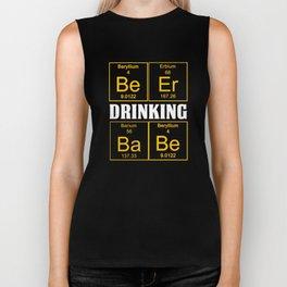 Funny Womens Teachers Assistant Design Beer Drinking Babe Biker Tank