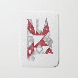 Alabama Typographic Flag Map Bath Mat