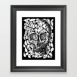 Skull Doodle Framed Art Print