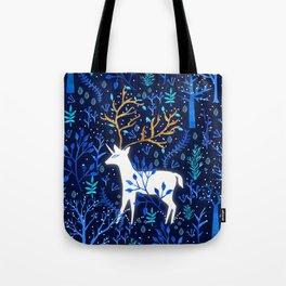 Deericorn In Blue Tote Bag