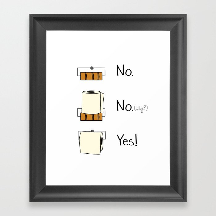 Bathroom Rules Framed Art Print By Cozyreverie Society6