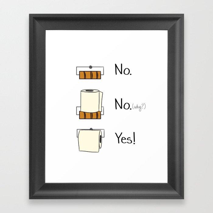 Delicieux Bathroom Rules Framed Art Print