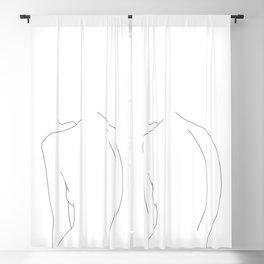 Minimal line drawing of women's body - Alex Blackout Curtain