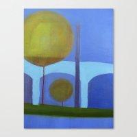 bridge Canvas Prints featuring bridge by Angella Meanix