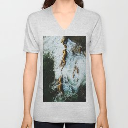 OCEAN - SEA - WATER - ROCKS - PHOTOGRAPHY Unisex V-Neck