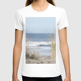The Beach Beckons    Path To Ocean Shore T-shirt