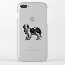 Saint Bernard Clear iPhone Case