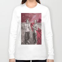hippy Long Sleeve T-shirts featuring Hippy Girls X Roses by LittleCarmine