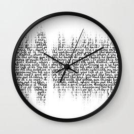 Cornflake Girl soundwave with lyrics - for light backgrounds Wall Clock