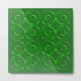 Abstract circles green illustration. Metal Print