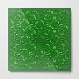 Abstract circles green illustration. Metal Print