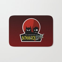 The Adventures of Bat man and Rob Zombie Bath Mat