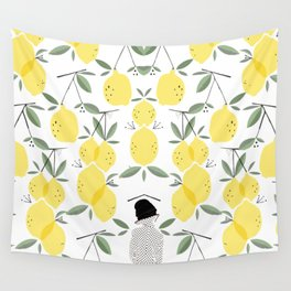 Lady of Lemon Drops Wall Tapestry