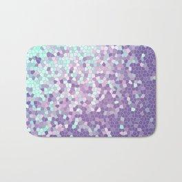 Aqua and Violet Purple Mosaic Bath Mat