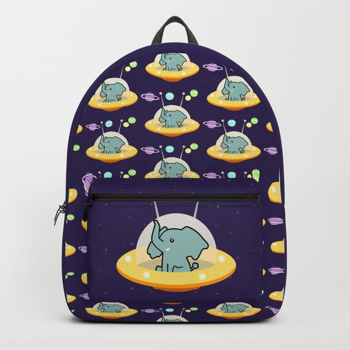 Pattern astronaut elephant: Galaxy mission Backpack
