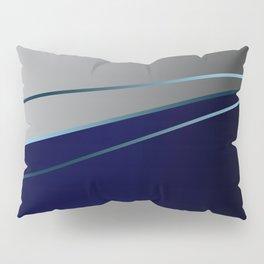 Blue, gray, light blue Pillow Sham