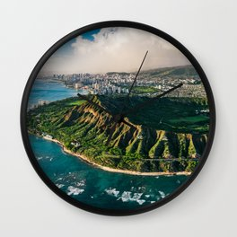 Diamond Head Aerial Panoramic Wall Clock