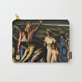 WPA Masterpiece 'The Underground Railroad' by James Michael Newell Carry-All Pouch