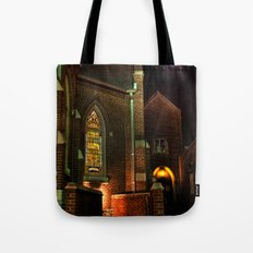 Stained Glass Starry Night Tote Bag