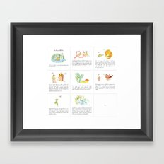 The story of the Chicken Frog Framed Art Print